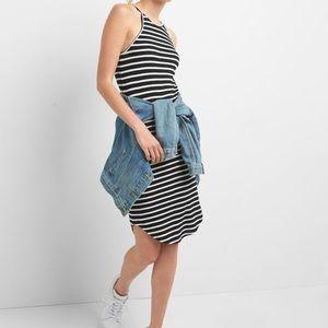 GAP Gray & White Striped Tank Dress